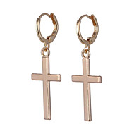 Women's Earrings Hanging Cross Earrings Geometrical Cross Cheap Stylish Simple Earrings Jewelry Gold / Silver For Daily Going out 1 Pair