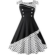 Audrey Hepburn Buline Retro / Vintage 1950 Vară Rochii Pentru femei Spandex Costume Negru / Alb / Albastru Cerneală Vintage Cosplay Fără manșon Lungime Genunchi / Rochie / Rochie
