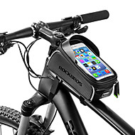 ROCKBROS Cell Phone Bag Bike Frame Bag Top Tube 6 inch Waterproof Portable Cycling for iPhone X iPhone XR iPhone XS Black Bike / Cycling / iPhone XS Max