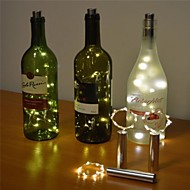 2m String Lights 20 LEDs Dip Led Warm White / Cold White / Multi Color New Design / Decorative / Wedding Batteries Powered 1 set