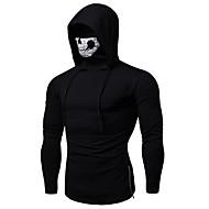 Men's Hoodie Jacket - Solid Colored Black XL