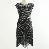 Dance Costumes Dresses / Nightclub Jumpsuits Women's Performance Spandex Tassel / Paillette Sleeveless Dress