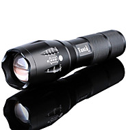 LED Flashlights / Torch Waterproof Rechargeable 3000 lm LED LED Emitters 5 Mode with Battery and Charger Waterproof Zoomable Rechargeable Adjustable Focus Super Light High Power Camping / Hiking