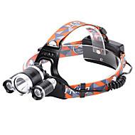povoljno -Svjetiljke za glavu Svjetla za bicikle Svjetlo za bicikle Vodootporno Može se puniti 3000 lm LED LED 3 emiteri 4.0 rasvjeta mode Vodootporno Može se puniti Otporan na udarce Kampiranje / planinarenje