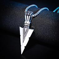 Men's Pendant Necklace Classic Rock Fashion Hip-Hop Chrome Gold Silver 72 cm Necklace Jewelry 1pc For Street Club
