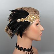 Feathers Headbands / Headdress / Headpiece with Rhinestone / Crystal / Feather 1 pc Wedding / Party / Evening Headpiece