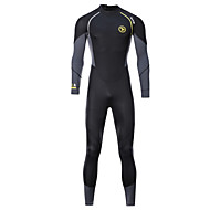 ZCCO Men's Full Wetsuit 1.5mm SCR Neoprene Diving Suit Thermal / Warm High Elasticity Back Zip - Diving Water Sports Fashion Camo / Camouflage Autumn / Fall Spring Summer