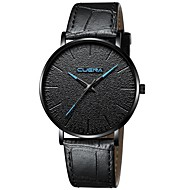 Men's Dress Watch Quartz Leather Black / Brown Chronograph Casual Watch Adorable Analog Classic Minimalist - Rose Gold Ivory Black / Rose Gold One Year Battery Life