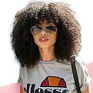Ljudska kosa Lace Front Perika Duboko udaljavanje Stražnji dio stil Brazilska kosa Afro Kinky Natural Perika 250% Gustoća kose s dječjom kosom Dar Rasprodaja Udobnost Žene Dug Perike s ljudskom kosom