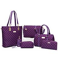 povoljno -Žene Patent-zatvarač PU Bag Setovi Kompleti za vrećice Jedna barva 6 kom Crn / purpurna boja / Fuksija / Jesen zima