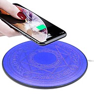 Magic array 10W Led Wireless Charger Fast Charging Pad for iPhone X XS Samsung S9 S10 Huawei P20 Mate 20 charger 1 pc