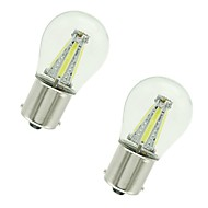 baratos -2pcs 1156 / 1157 Carro Lâmpadas 4 W COB 300 lm 4 LED Lâmpada de Seta / Luzes de freio / Invertendo (backup) luzes Para Universal Todos os Anos