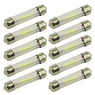 ieftine -10pcs 41mm / 39mm Mașină Becuri 1 W COB 80 lm 1 LED Bec Placuțe Înmatriculare / Bec Semnalizare / Lumini de interior Pentru Παγκόσμιο