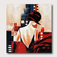 Oil Painting Hand Painted - Abstract People Comtemporary Modern Stretched Canvas