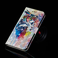 Etui Til Samsung Galaxy S9 / S9 Plus / S8 Plus Med stativ / Flip / Mønster Fuldt etui Ugle Hårdt PU Læder
