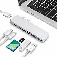 cheap -USB C HUB Type C HUB Splitter Dual Multi-function Card Reader Multiport Adapter USB-C Hub SD Card HDMI Ultra Slim Type C Hub for macbook2018 2019 2020 Macbook Pro2016  2017 2018 2019 2020