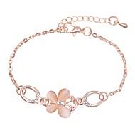 Women's Handmade Link Bracelet Link / Chain Romantic Korean Sweet Eco-friendly Material Bracelet Jewelry Silver / Rose Gold For Daily Formal Festival