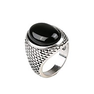 Men's Statement Ring 1pc Gold Silver Resin Alloy Military Gift Daily Jewelry Cool