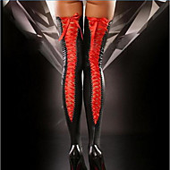 Women's Thin Super Sexy Stockings - Solid Colored 30D Black Red Purple One-Size