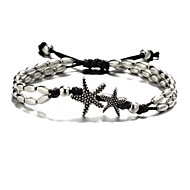 Ankle Bracelet Tropical Ethnic Fashion Women's Body Jewelry For Carnival Holiday Tropical Acrylic Cotton Alloy Starfish Silver 1pc