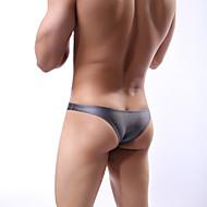 Men's Basic Super Sexy Briefs Underwear - Normal, Solid Colored Low Waist Black White Dark Gray M L XL