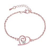 Women's Chain Bracelet Link Bracelet Classic Stylish Artistic Simple Alloy Bracelet Jewelry Silver / Rose Gold For Holiday Office & Career Festival