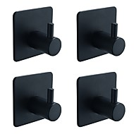 billige -Krok Selvklebende Moderne / Antikk Rustfritt Stål 4stk - Baderom håndkle ring Vægmonteret