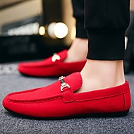 Men's Comfort Shoes Canvas Spring Loafers & Slip-Ons Black / Red / Blue