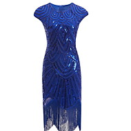 Women's Cocktail Party Homecoming Basic Slim Bodycon Dress - Solid Colored Tassel Blue S M L XL