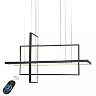 UMEI™ Linear Geometric Chandelier Ambient Light Painted Finishes Aluminum Dimmable 110-120V / 220-240V White / Dimmable With Remote Control / Wi-Fi Smart / FCC