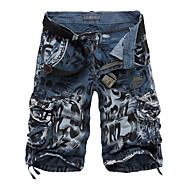 cheap -Men's Basic Military Daily Shorts Pants Camo / Camouflage Blue Yellow Wine 29 30 31