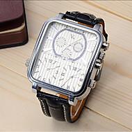 ราคาถูก -V6 สำหรับผู้ชาย นาฬิกาแนวสปอร์ต นาฬิกาตกแต่งข้อมือ นาฬิกาข้อมือ นาฬิกาอิเล็กทรอนิกส์ (Quartz) ความหรูหรา กันกระแทก หนัง ดำ ระบบอนาล็อก - สีดำและสีขาว สีดำ หนึ่งปี อายุการใช้งานแบตเตอรี่ / สแตนเลส
