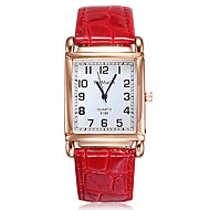 Women's Quartz Watches Fashion Elegant Black White Red PU Leather Quartz White Black Red Casual Watch 1 pc Analog One Year Battery Life / Stainless Steel