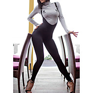 Women's Basic / Street chic Strap Black Pencil Slim Jumpsuit Onesie, Solid Colored Backless S M L