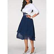 Women's A Line Dress Chiffon Fashion Spring Blue Red Purple XL XXL XXXL