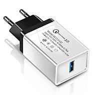 billige -Hurtig oplader USB oplader EU  Stik QC 3.0 1 USB-port 2.1 A 100~240 V for Universel