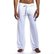 billige -Herre Basale Chinos Joggingbukser Bukser Ensfarvet Sport Snørelukning Hvid Sort Kamel S M L