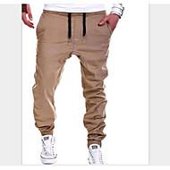 tanie -Męskie Podstawowy Jogger Spodnie Solidne kolory Ściągana na sznurek Czarny Khaki Szary M L XL