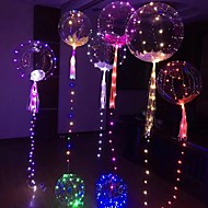 cheap -4pcs Luminous LED Balloon Transparent Round Bubble Birthday Party Wedding Decoration LED Bubble Balloon Baby Kids Toy(Batteries Not Including)