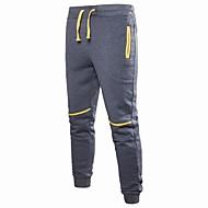 Men's Basic Daily Sports Weekend Loose Chinos / Sweatpants Pants - Color Block Patchwork / Drawstring Dark Gray Navy Blue Light gray XL XXL XXXL