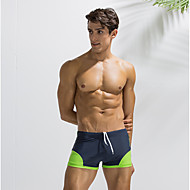 Men's Basic Black Light Blue Light gray Swim Trunk Bottoms Swimwear - Color Block L XL XXL Black