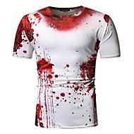 Men's EU / US Size Cotton T-shirt Round Neck Red