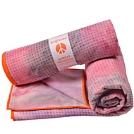 Yoga Blanket Anti Slip Ultra Light (UL) Superfine fiber Polyster for Yoga Everyday Use Indoor 183*61 cm Pink