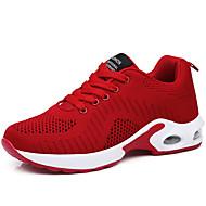 ราคาถูก -สำหรับผู้หญิง ถัก ฤดูใบไม้ผลิ & ฤดูใบไม้ร่วง / ฤดูร้อน Sporty / ไม่เป็นทางการ รองเท้ากีฬา สำหรับวิ่ง ส้นแบน สีเทา / สีม่วง / แดง