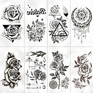 8 pcs Temporary Tattoos Water Resistant / Best Quality Face / Hand / brachium Tattoo Stickers