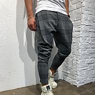 tanie -Męskie Przesadny Typu Chino Spodnie dresowe Spodnie Nadruk Sportowy Haremki Czarny Wino Zieleń wojskowa M L XL / Elastyczność