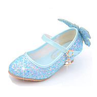 Girls' Comfort / Flower Girl Shoes PU Heels Toddler(9m-4ys) / Little Kids(4-7ys) / Big Kids(7years +) Walking Shoes Sequin White / Blue / Pink Summer / Party & Evening / Rubber