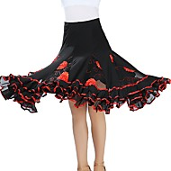 Ballroom Dance Bottoms Women's Training / Performance Tulle Scattered Bead Floral Motif Style / Gore Natural Skirts