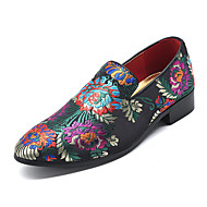 Men's Formal Shoes Driving Shoes Spring & Summer Vintage / Chinoiserie Party & Evening Office & Career Loafers & Slip-Ons Satin Non-slipping Wear Proof Black / Red / Blue