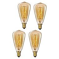 4 pcs 40 w e14 st48 branco quente 2200-2800 k retro dimmable decorativo incandescente vintage edison lâmpada 220-240 v